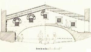 Reconstrucción del alzado del pasadizo de 'Abd Allāh según L. Golvin (1979).